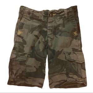 Wrangler Boy's Camouflage Cargo Shorts EUC size 8